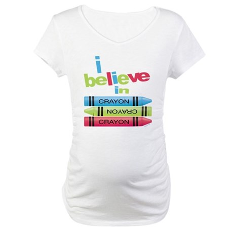 I believe in colors! Maternity T-Shirt