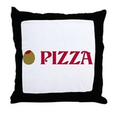 Olive Pizza (I Love Pizza) Throw Pillow