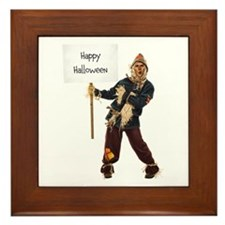 Scarecrow Warning Framed Tile