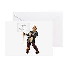 Scarecrow Warning Greeting Card