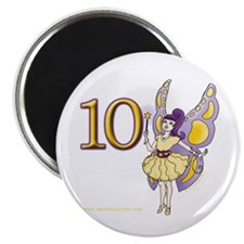 Girls 10th Fairy Birthday Magnet
