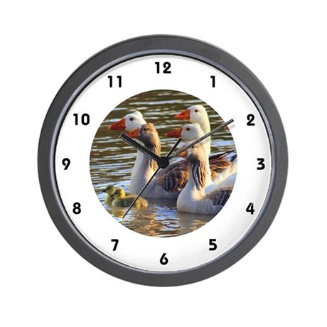 Gray Goose Wall Clock