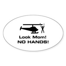 Look Mom! Oval Decal