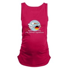 stork baby de2 white.psd Maternity Tank Top
