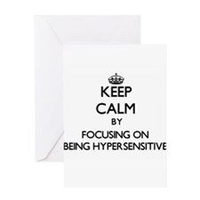 Keep Calm by focusing on Being Hype Greeting Cards