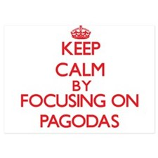 Keep Calm by focusing on Pagodas Invitations