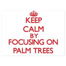 Keep Calm by focusing on Palm Trees Invitations