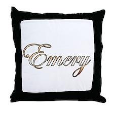 Gold Emery Throw Pillow