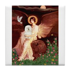 Seated Angel & Bolognese Tile Coaster