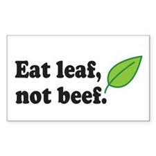 Eat Leaf Rectangle Decal