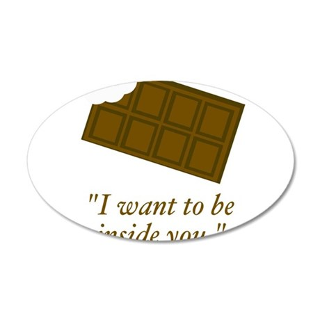 I want to be inside you said the chocolate Wall De