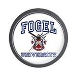 FOGEL University Wall Clock