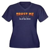 Trust Taxi Driver Women's Plus Size V-Neck Dark T-