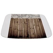 barnwood white lace country Bathmat