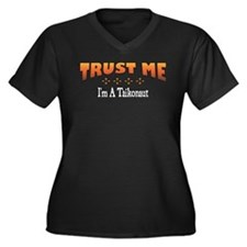 Trust Taikonaut Women's Plus Size V-Neck Dark T-Sh
