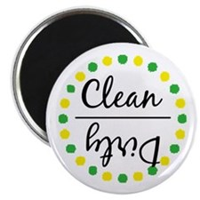 Green / Gold Clean Dirty Dishwasher Magnet Magnets