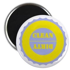 Blue / Gold Clean Dirty Dishwasher Magnet Magnets