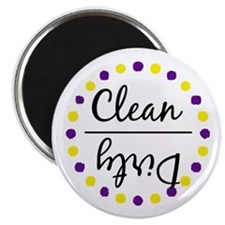Purple / Gold Clean Dirty Dishwasher Magnet Magnet