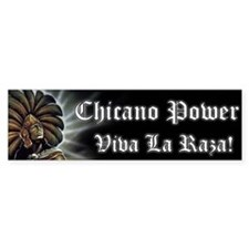 "SoyChicano ""Chicano Power"" Bumper Bumper Sticker"