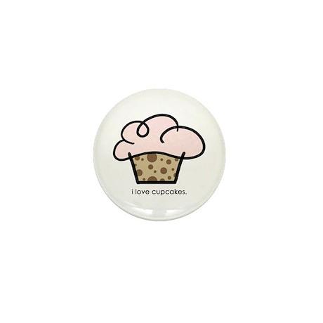 i love cupcakes Mini Button