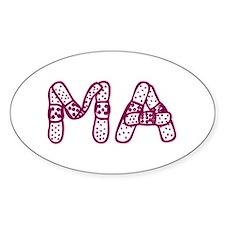 MA (Bandage logo) Oval Decal
