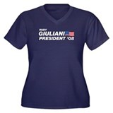 Rudy Giuliani for President Women's Plus Size V-Ne