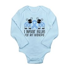 Grandpa Light Blue Awareness Body Suit