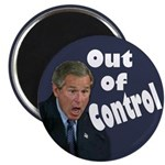 George W. Bush: Out of Control (Magnet)