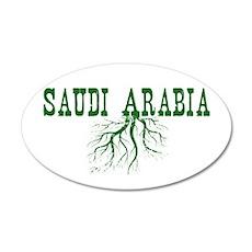Saudi Arabia 35x21 Oval Wall Decal