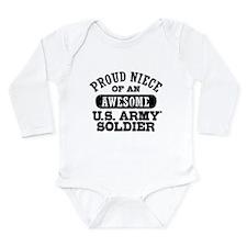Proud Niece U.S. Army Long Sleeve Infant Bodysuit