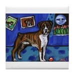 BOXER senses smiling moon Tile Coaster