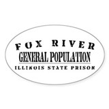 General Population - Fox River Oval Decal