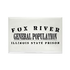 General Population - Fox River Rectangle Magnet