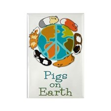 Pigs on Earth Rectangle Magnet (10 pack)