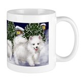 AMERICAN ESKIMO DOG CHRISTMAS MUG
