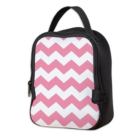 Chevron Zigzag Pink Neoprene Lunch Bag