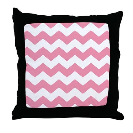 Chevron Zigzag Pink Throw Pillow