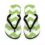 Chevron Zigzag Green Flip Flops