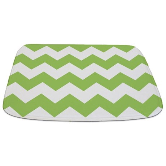 Chevron Zigzag Green Bathmat