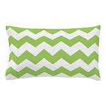 Chevron Zigzag Green Pillow Case