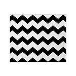 Chevron Zigzag Black Throw Blanket