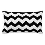 Chevron Zigzag Black Pillow Case