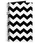 Chevron Zigzag Black Journal