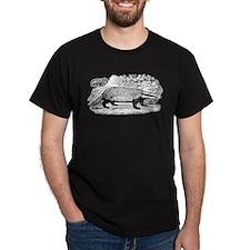 Drawing of a Badger Dark T-Shirt