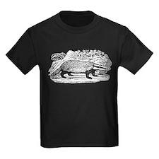 Drawing of a Badger Kids Dark T-Shirt