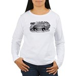 Drawing of a Badger Women's Long Sleeve T-Shirt