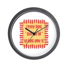 ...Over The Hill... Wall Clock