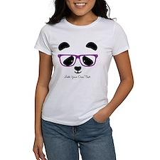 Cute Panda Purple Tee