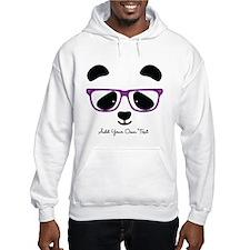 Cute Panda Purple Hoodie