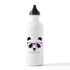 Cute Panda Purple Water Bottle